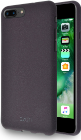 Azuri flexible cover with sand texture - black - for iPhone 7